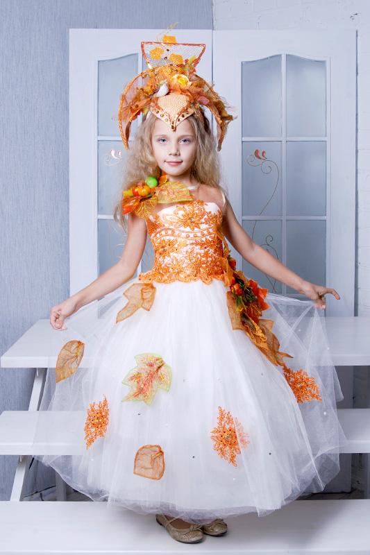 Наряд Осень на прокат для девочки от арт ателье Инфанта Карнавал