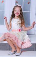 Бальное платье молочно-розовое; Артикул СМ109