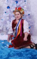 Украинка (красный бархат, вышивка); Артикул У3