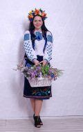 Украинка (синий бархат, вышивка); Артикул У4