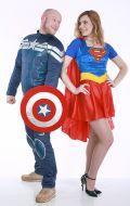 Костюм Капитан Америка и Супердевушка