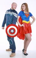 Костюмы Капитан Америка и Супердевушка