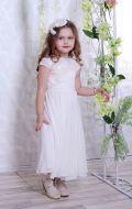 Бальное платье молочное расшитое; Артикул СМ6