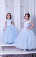 Бальные платья голубые фатин; Артикулы М81 и СМ168