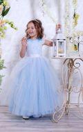 Бальное платье голубое фатин; Артикул М81