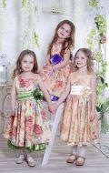 Бальные платья с цветочным принтом; Артикулы Ст33, Ст34 и Ст35