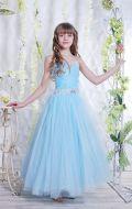 Бальное платье голубое фатин; Артикул Б47