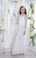 Бальное платье молочное гипюр; Артикул Б66