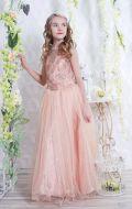 Бальное платье персиковое фатин; Артикул Б33