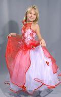 Платье Бальное красно-белое;  Артикул СМ55