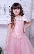 Бальное платье фрезовое фатин; Артикул СМ149