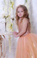 Бальное платье золотистое фатин; Артикул Ф4