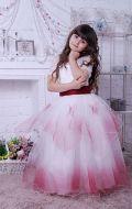 Бальное платье молочно-бордовое; Артикул СМ171