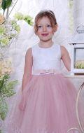 Бальное платье молочно-фрезовое; Артикул М80