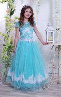 Бальное платье мятное; Артикул СМ9