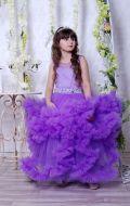 Бальное платье сиреневое с воланами; Артикул СМ173