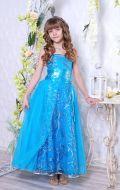 Бальное платье голубое блеск; Артикул Б45