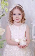 Бальное платье молочное гипюр; Артикул СМ1