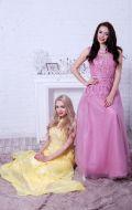 Выпускные платья желтое и розовое; Артикулы Кв36 и Бд53