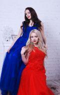 Выпускные платья синее и красное; Артикулы Кв49 и Кв39