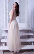 Выпускное платье молочное расшитое NEW; Артикул Кв45