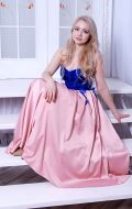 Выпускное платье сине-розовое; Артикул Бд52