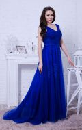 Выпускное платье синее расшитое NEW; Артикул Кв49