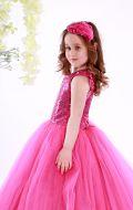Платье бальное фатин паетки малиновое;Артикул Ф25