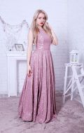 Выпускное платье розовое гипюр NEW; Артикул Б53