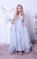 Выпускное платье светло серое NEW; Артикул Кв44
