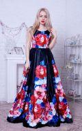 Выпускное платье черное в цветах NEW