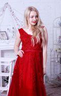 Выпускное платье красное расшитое NEW