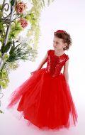 Платье бальное фатин паетки красное;Артикул Ф37