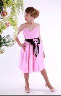 Платье бальное роз-черный бант;Артикул Б74