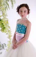 Платье бальное молочно-голубые камни;Артикул СМ153