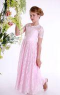 Платье бальное роз.кружево;Артикул Б72