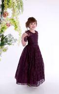 Платье бальное фиолетовый гипюр,Артикул Б68