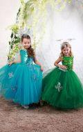 Платье бальное бирюза фатин;Артикул Ф5 и Платье бальное зеленый фатин;Артикул Ф33