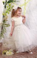 Платье бальное бежевый гипюр; Артикул М85