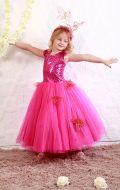Платье бальное малиновые паетки;Артикул Ф25