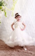 Платье бальное бежевое облако;Артикул М83