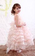 Платье бальное персик рюш; Артикул М82
