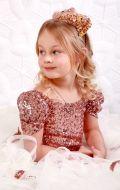 Платье бальное паетки с бабочками; Артикул СМ 167