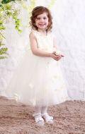 Платье бальное бежевые бабочки;Артикул М 77