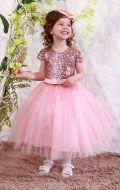 Платье бальное нежно-розовый фатин;Артикул Ф20
