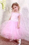 Платье бальное розовые камни;Артикул Б5