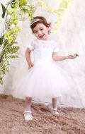 Платье бальное белое фатин ;Артикул С70