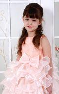 Платье бальное персик рюш;Артикул М82