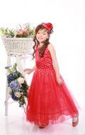Платье бальное красный фатин;Артикул КЛ1