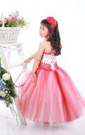 Платье бальное бело-красное кружево;Артикул СМ54